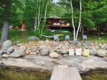 282 / (282) Papineau Lake. Lovely family cottage has awesome privacy 1.7 acres & 220 feet of waterfront!