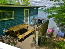 329 / (329) Papineau Lake. Cozy, comfortable Boathouse + Bunkie. Lovely privacy and great frontage!